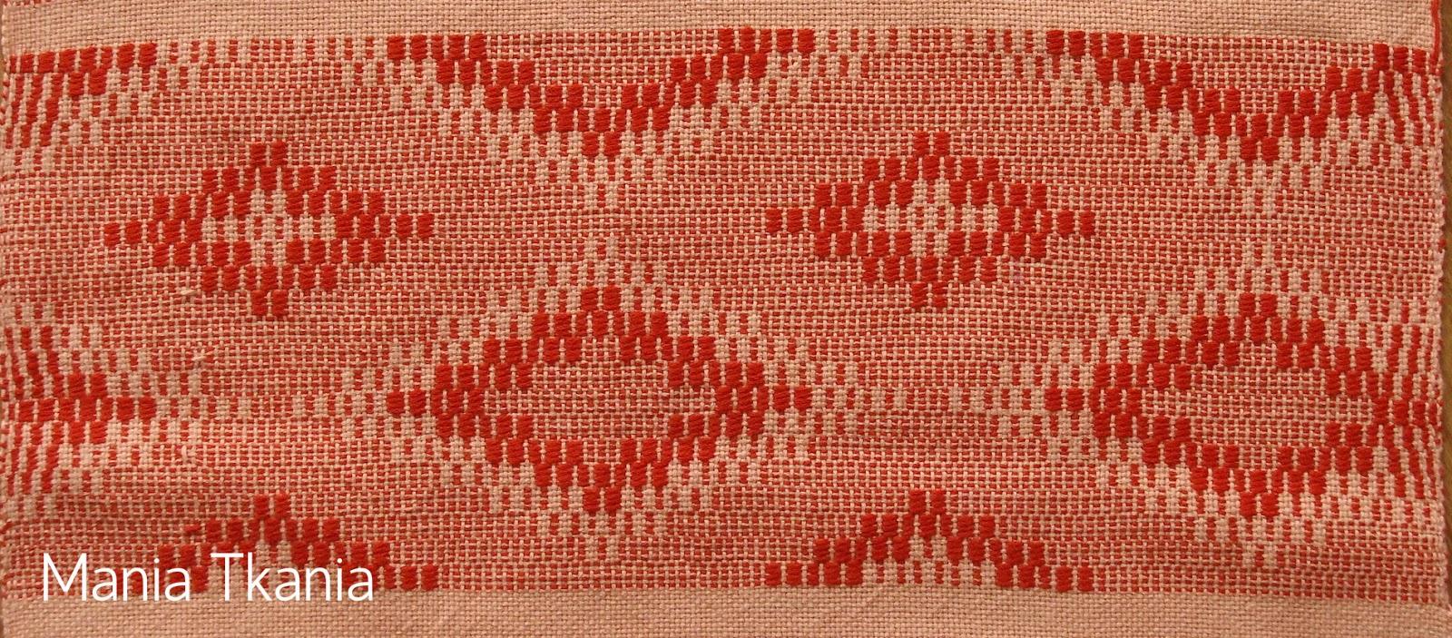 ręcznie tkana tkanina / crackle weave