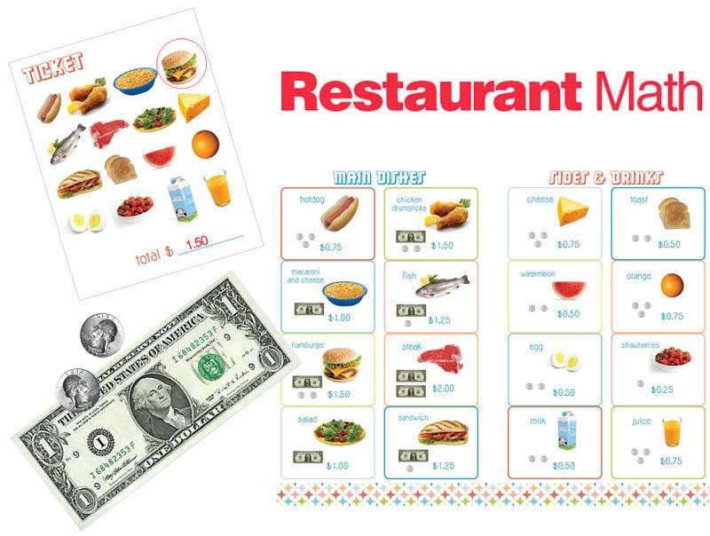 Breakfast Printable Worksheets further Disney Play Money Printables ...