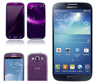 Galaxy S4 and purple Samsung Galaxy S3