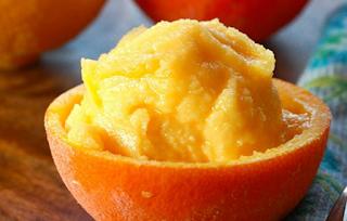 Sorbet de laranja e alecrim light