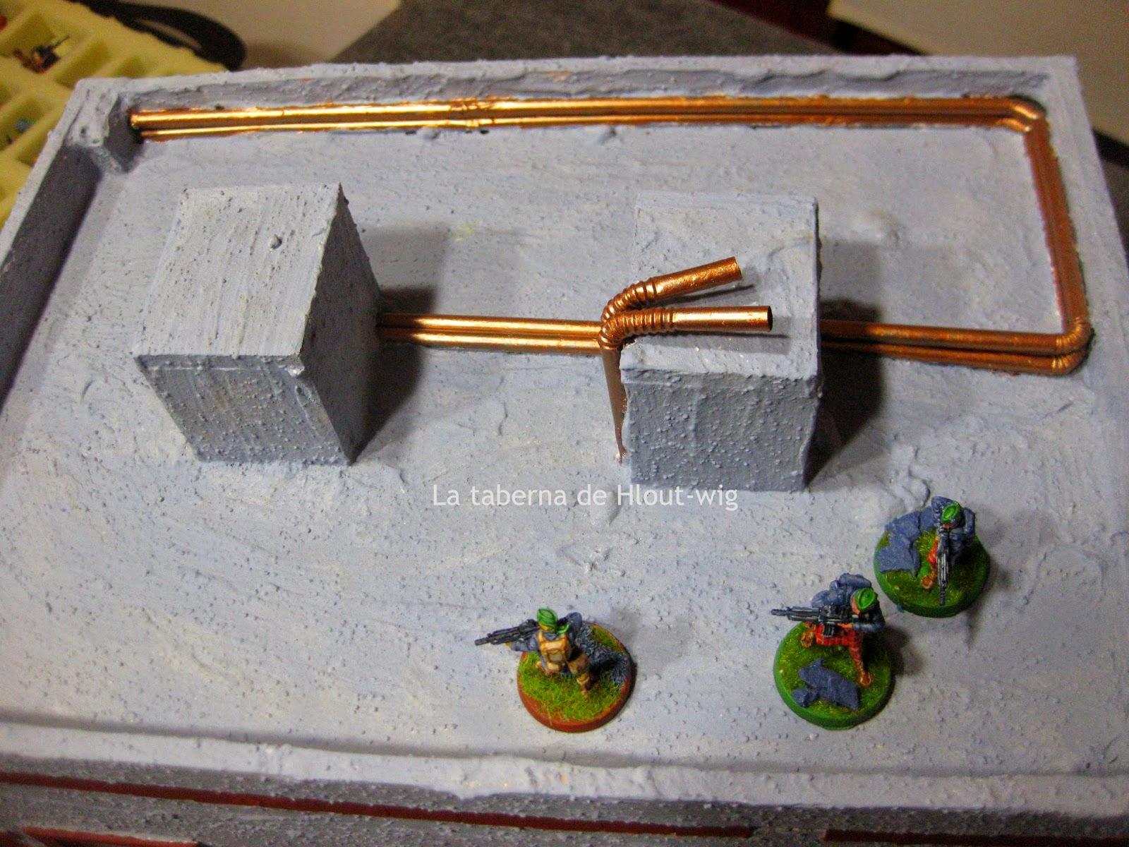 Detalle de las tuberías del tejado