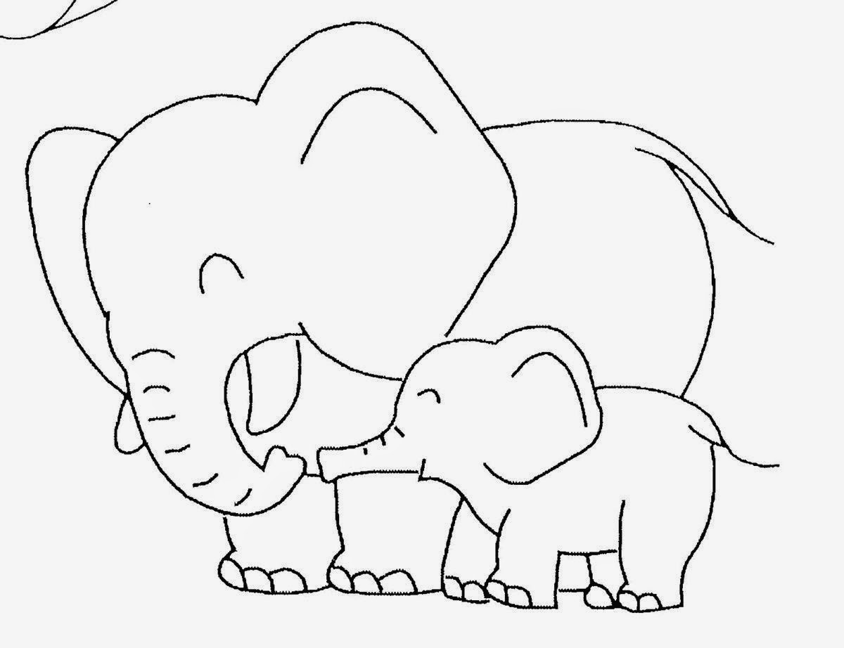 Baby Elephant Coloring Pictures Cute Baby Baby Elephant Coloring Pages