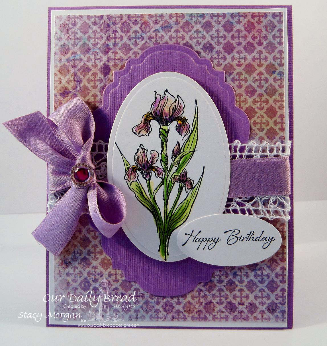 Stamps - Our Daily Bread Designs Iris, ODBD Christian Faith Paper Collection, ODBD Custom Vintage Labels Die