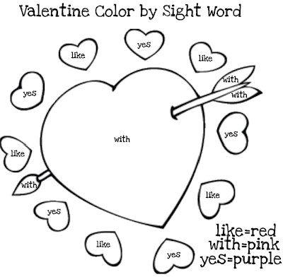 sight word coloring pages printable - sonshine tot school mommy made valentine printables