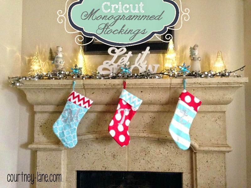 Cricut Monogrammed stocking