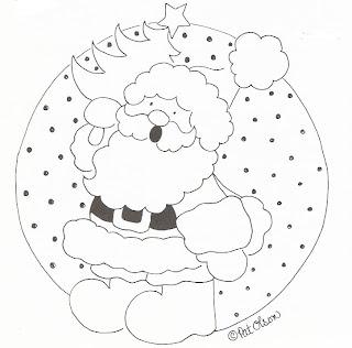 Risco para pintura de Papai Noel