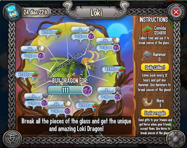 imagen de las tareas y objetos magicos del tercer juego de la isla vikingo de dragon city