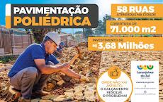 Laranjeiras do Sul - 58 RUAS , 71.000 m² de calçamento