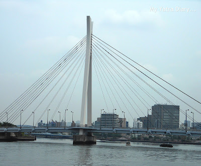 Chuo-ohashi bridge, Sumida river cruise, Tokyo