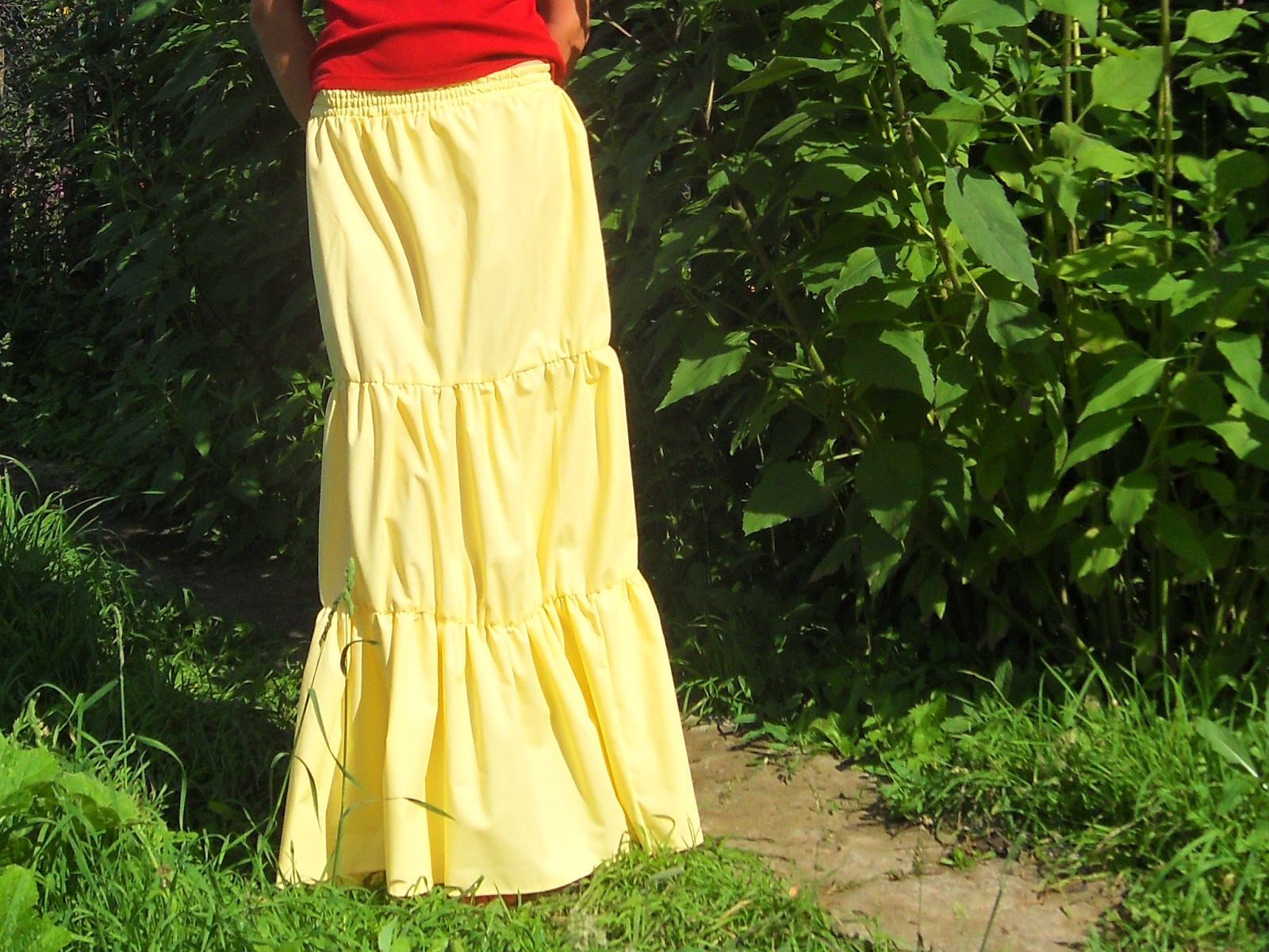 Как сшить юбку в пол мастер-класс