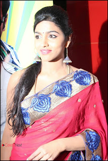 Tamil Actress Dhansika Pictures in Red Saree at Ya Ya Movie Audio Launch Event 0005