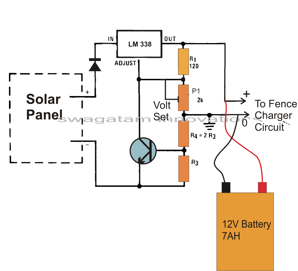 Make This Solar Powered Fence Charger on car battery tester circuit diagram