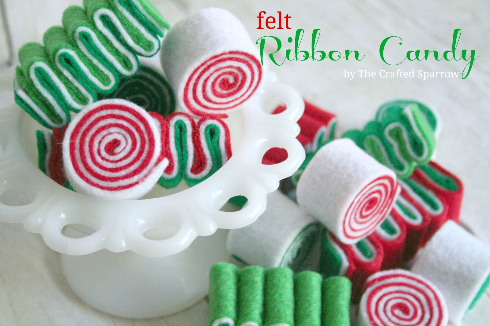 felt ribbon candy - Christmas Ribbon Candy