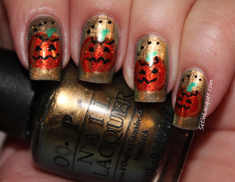 Halloween - Pumpkin Nail Art