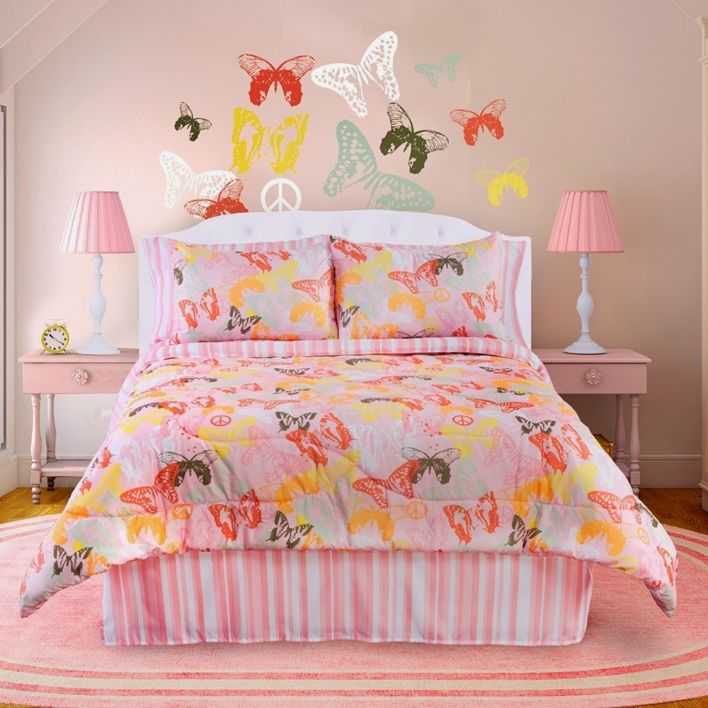 Veratex Bedding Collection Butterflies Are Free Comforter Set
