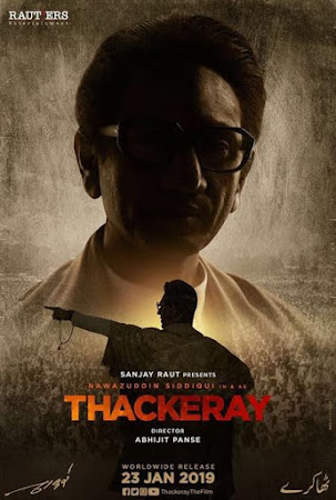Poster Of Bollywood Movie Thackeray 2019 300MB Pdvd Full Hindi Movie