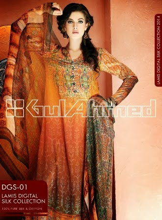 Gul Ahmed New Silk Collection 2014