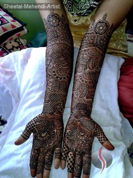 Modern Arabic Mehndi Designs 2014 : New pk fashion mehndi designs arabic indian
