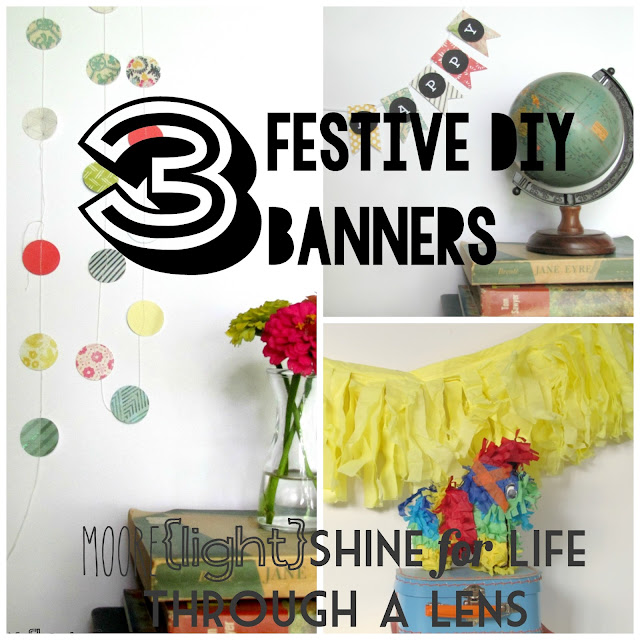festive banner DIY