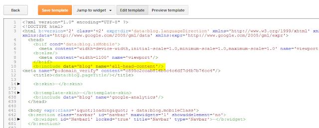 Pinterest Verification Fix blogger