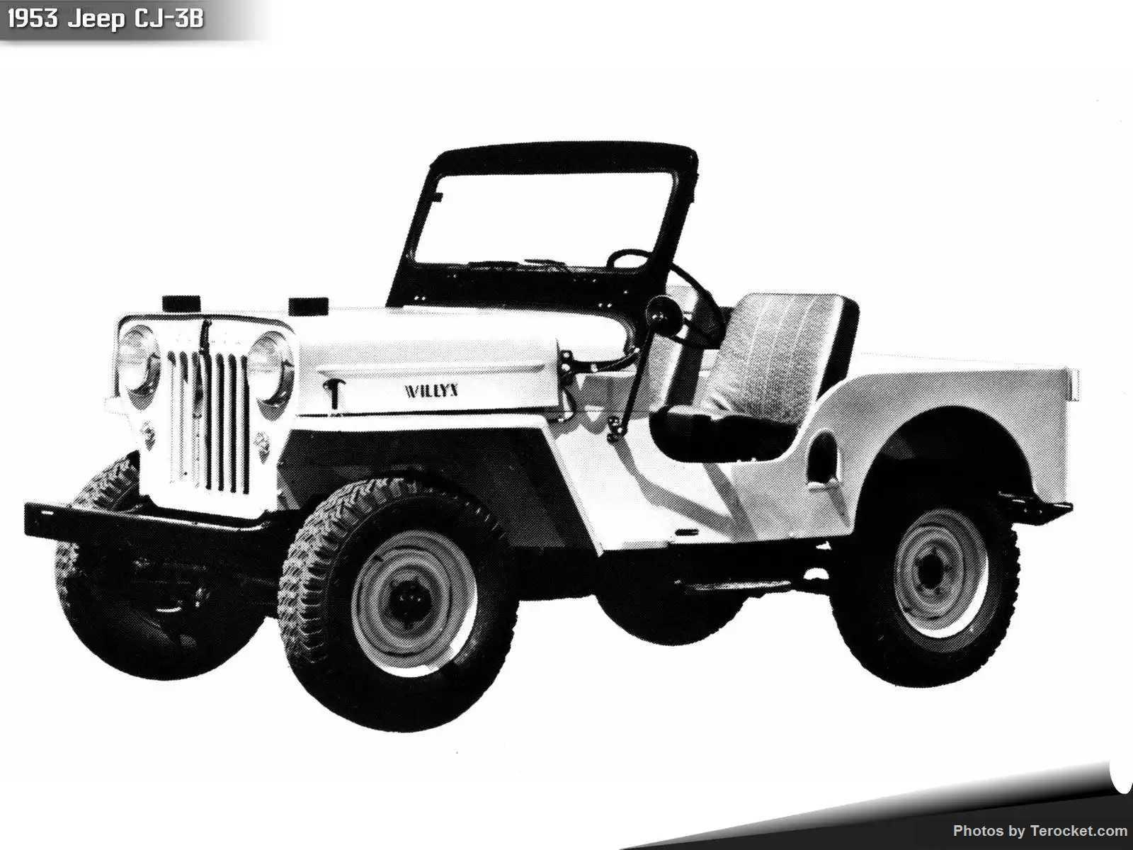 Hình ảnh xe ô tô Jeep CJ-3B 1953 & nội ngoại thất