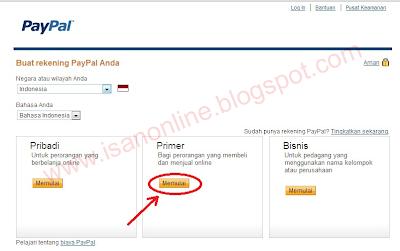membuat rekening online paypal