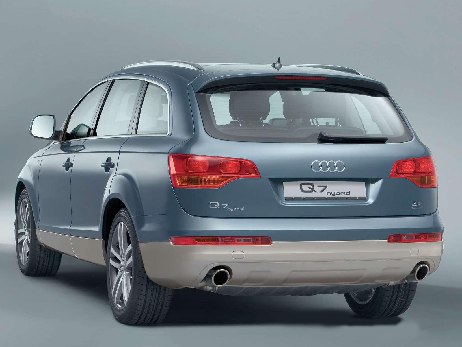 Audi q7 hybrid rear view
