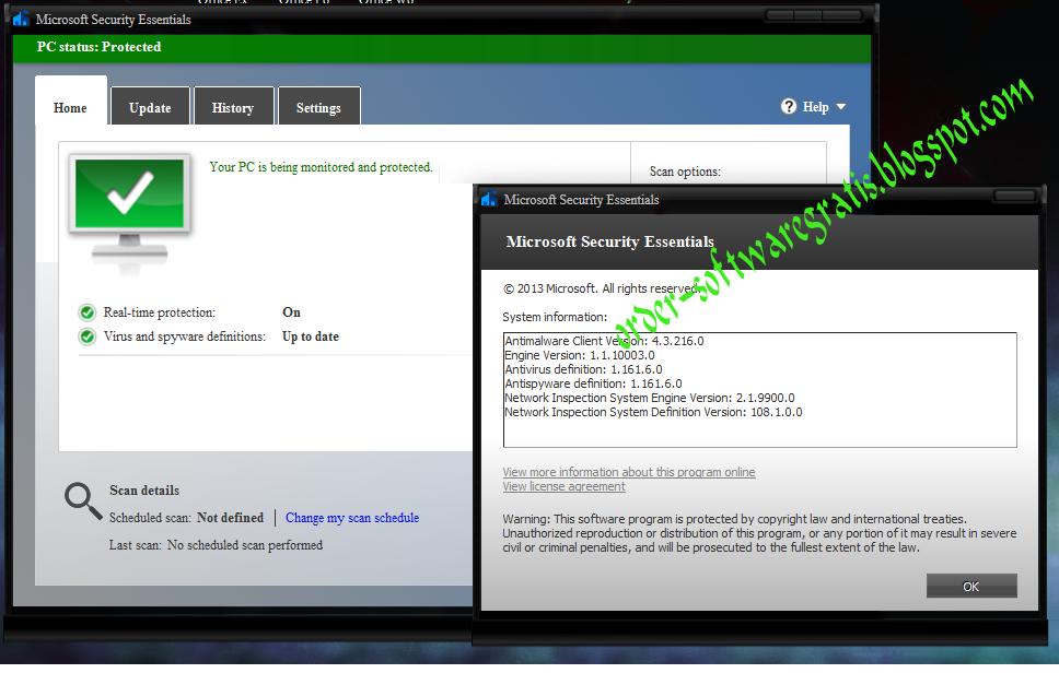 microsoft security essentials manual update 32 bit