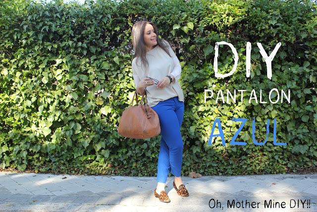 DIY como hacer un pantaln azul. Costura avanzada