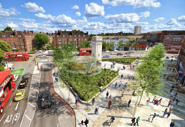 TfL image of new Stockwell junction on lambethcyclists.org.uk