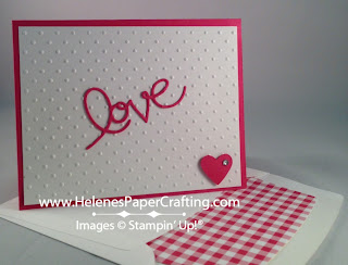 Pink and White Love card