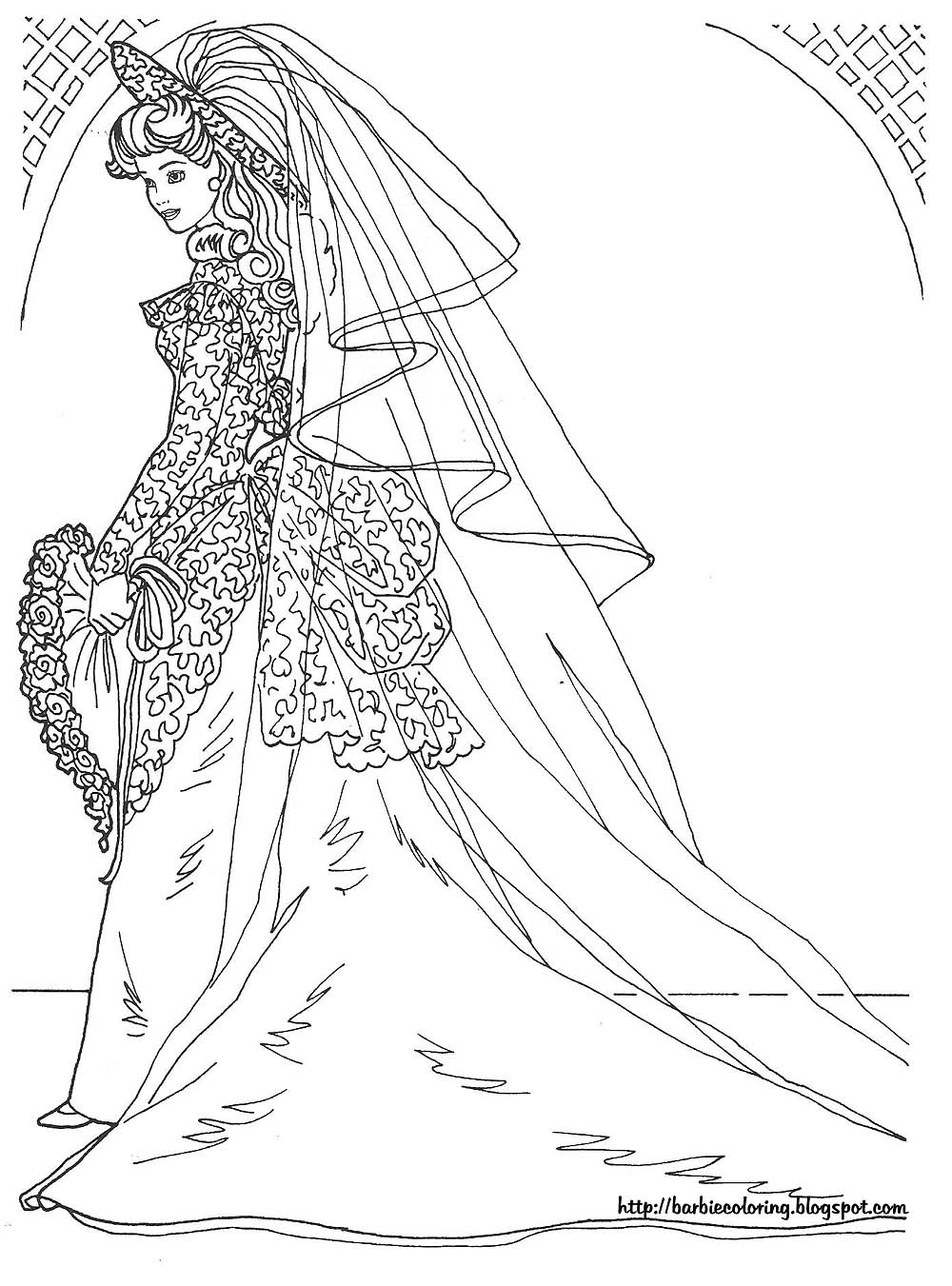 barbie coloring pages full size - photo#31