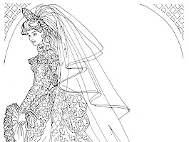 Ken And Barbie Wedding Coloring Pages