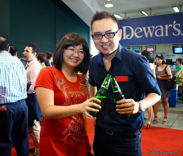 With one of the good people from Carlsberg Malaysia, here's to a great year ahead!