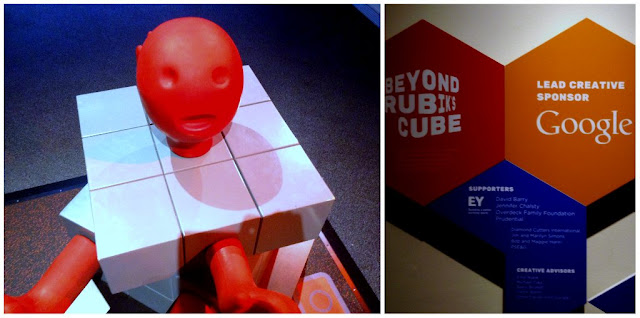 Rubik inspired sculptures at Great Lakes Science Center this Summer #thisiscle | @mryjhnsn