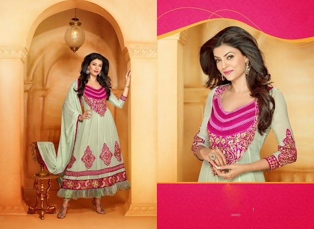 Sushmita Sen Designer Anarkali Suits,Long Anarkali Suits,Georgette Designer Anarkali Suits