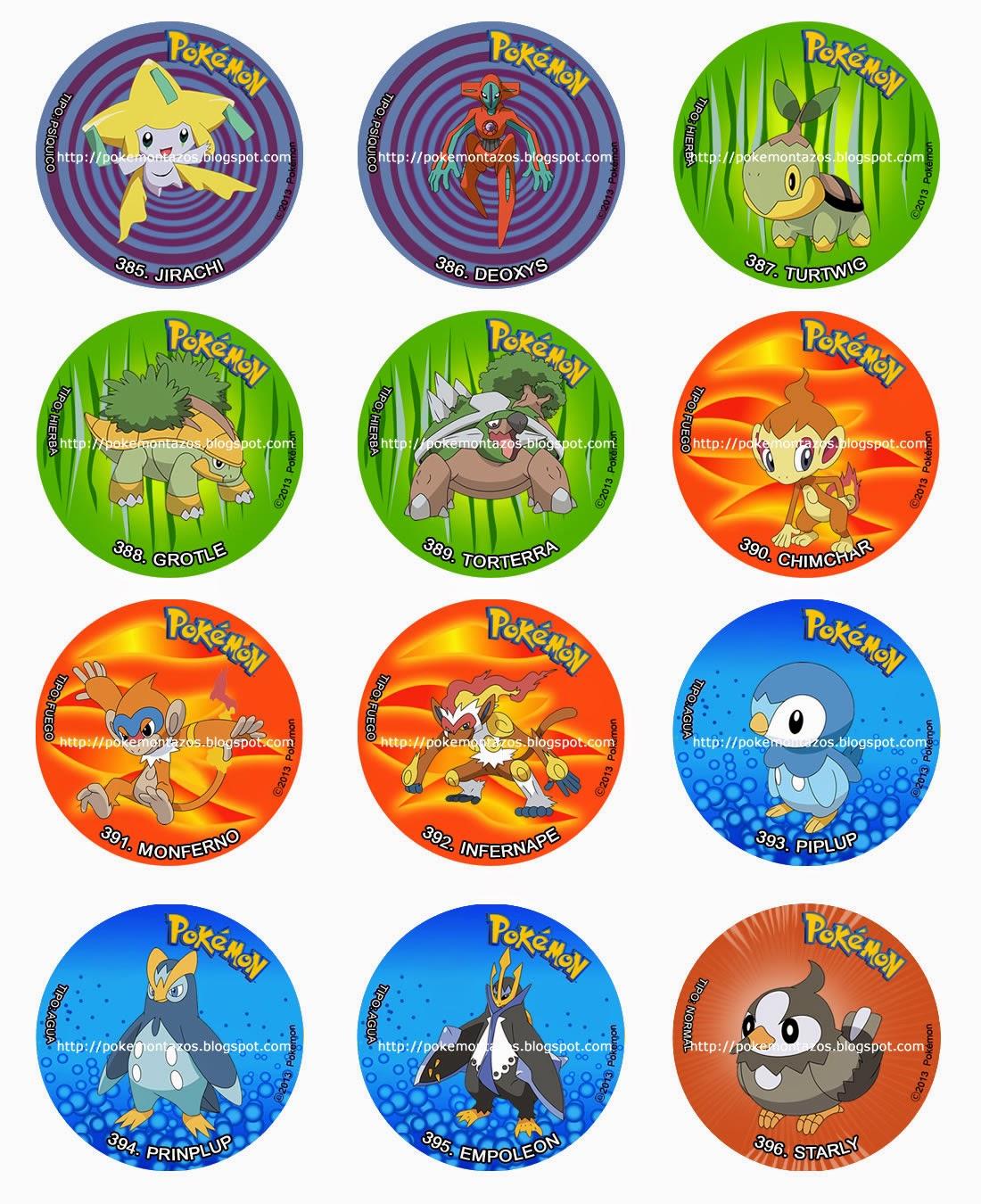 Pokemon TAZOS: POKEMONTAZOS: 385 AL 396