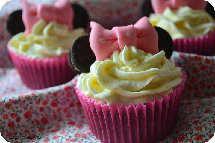 Cupcakes minnie mouse - La Cocinillas