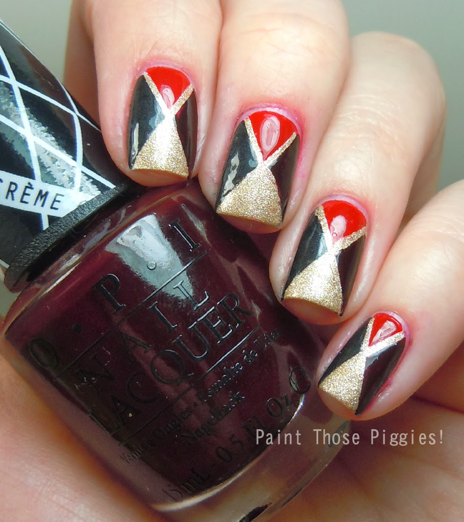 Paint Those Piggies!: Triangle Nail Art With The OPI Gwen