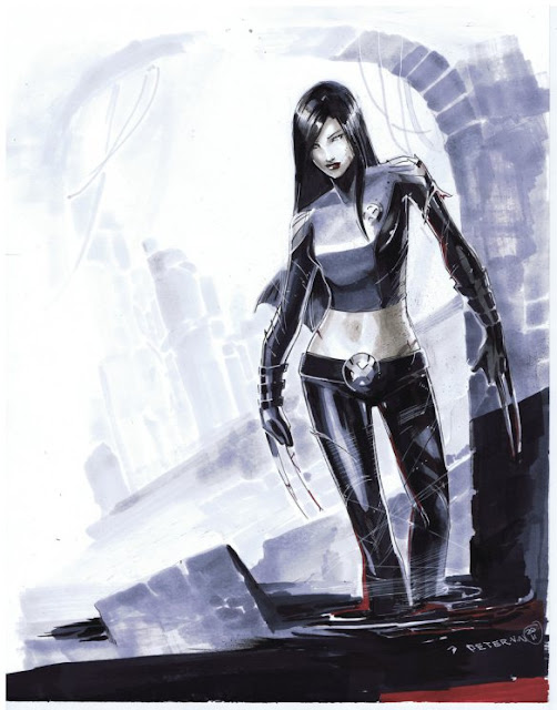 X-23 Character Review - Blue White Picture
