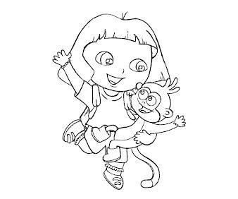 #9 Dora Coloring Page