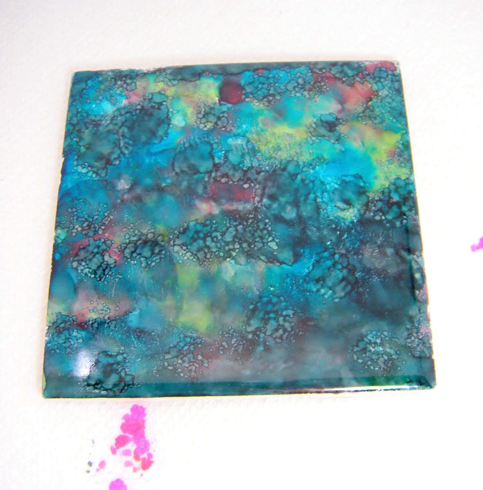 Accidentally Excellent: DIY Alcohol Ink Coasters (2-Part Tutorial)