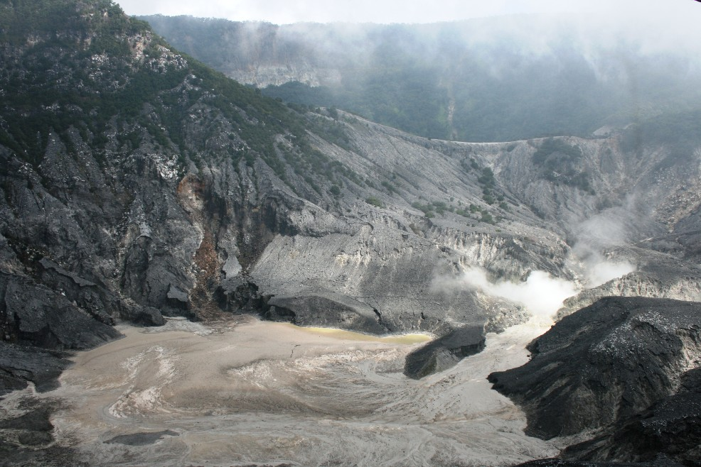 Bandung Indonesia  City pictures : ... rising from the volcano crater @ Tangkupan Perahu, Bandung, Indonesia