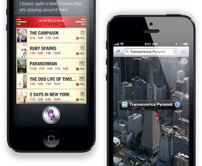 Apple iPhone 5 Movie Search and 3D Map Search