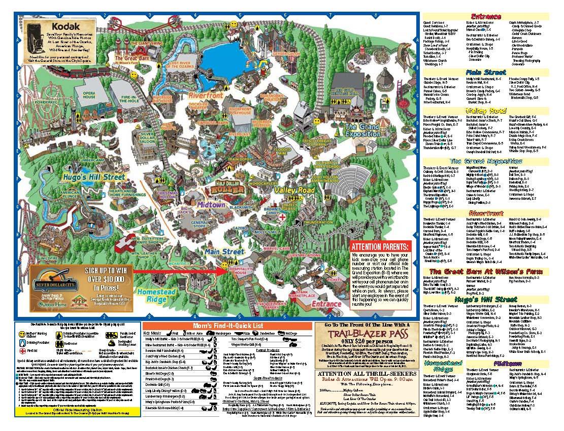 Vintage Dog Patch USA Map For Amusement Park Ark Dogpatch USA - Los angeles map vintage