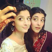 Mawra Hocane with Urwa (sister)