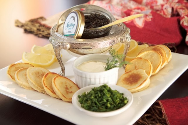 christmas blinis caviar recipe