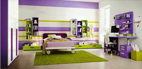 Chambre Couleur Vert Et Violet : ... couleurs pastel dans cette salle ...