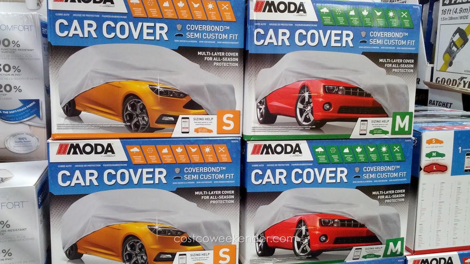 Moda Car Cover Sizes