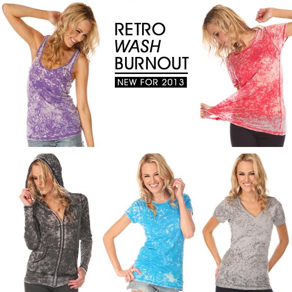 Retro Vintage Wash Burnout Collection